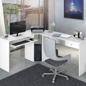 Estação de Trabalho Escrivaninha homeoffice Max Branco Gelo