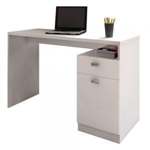 Escrivaninha para Estudo 01 Gaveta 01 Porta Branco