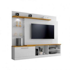 Home p/ tv 65'' c/ LED 200cm Mel c/ Branco