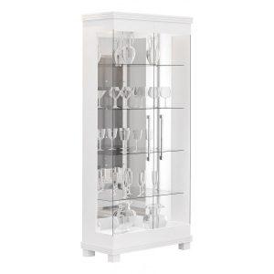 Cristaleira Espelhada Clássica 02 Portas 72cm Branco