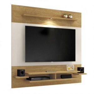 Painel MavaPlus 180cm Tv 65'' LED Damasco/Off White