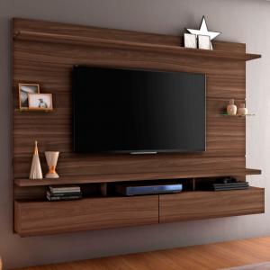 Painel Genebra 210cm Tv 60'' Imbuia Naturale