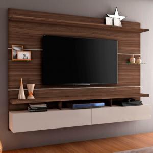 Painel Genebra 210cm Tv 60'' Imbuia/Off White