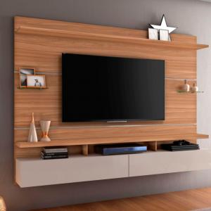 Painel Genebra 210cm Tv 60'' Naturale/Off White