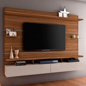 Painel Genebra 210cm Tv 60'' Rovere/Off White