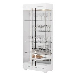 Cristaleira Espelhada Leonora 71cm Branco