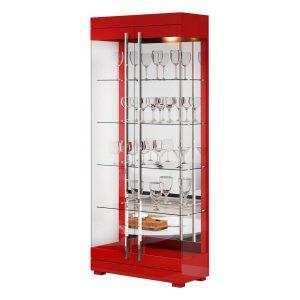 Cristaleira Espelhada Leonora 71cm Vermelho Brilho