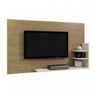 Painel Exclusive P/ Tv 40'' Damasco/Off White 136cm