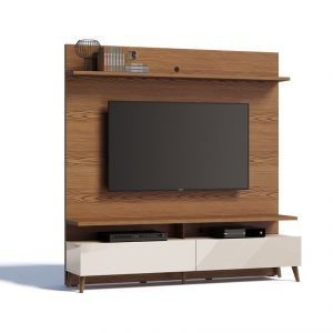 Home Glena Retrô 180cm Tv 60'' Freijó/Off White