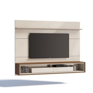 Home Constança Plus 220cm Off White/Freijó Tv 60''