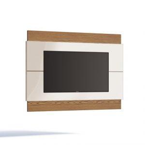 Painel Fiji Mini Liso tv 60'' Off White/Freijó 140cm