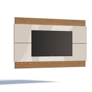 Painel Fiji Plus Liso tv 60'' Off White/Freijó 220cm