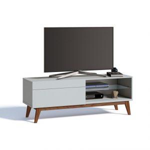 Rack Bruna Tv 55'' 140cm 01 Gaveta Branco