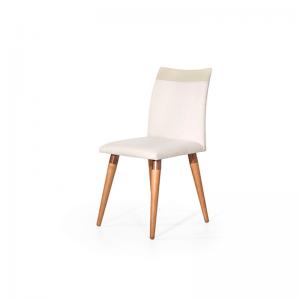 Cadeira Valentina Linho/Courino Off White/Fendi