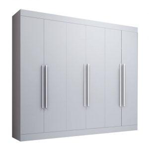 Roupeiro Kaique 6 Portas 245x239cm Branco