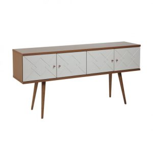 Buffet Retrô Tallin 152cm 04 Portas Natural/Off White