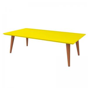 Mesa de Centro Lisboa 102x53cm Amarelo