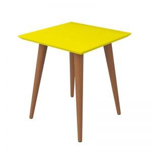 Mesa Canto Lisboa 44cm Pés Palito Amarelo