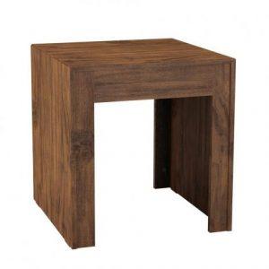 Mesa de Canto Amy 54x54cm Nobre Rústico