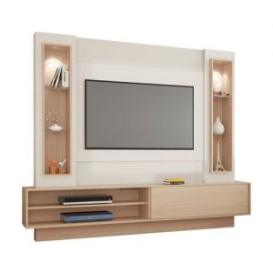 Painel Suspenso Orleans 220cm Tv 55'' Led Off White/Natural