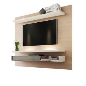 Painel Tacco 220cm Tv 65'' LED/Espelho Natural/Off White