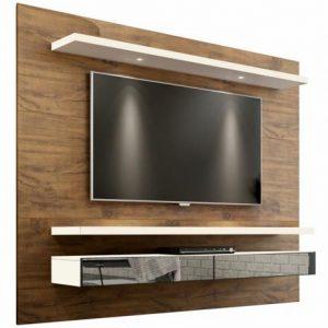 Painel Tacco 220cm Tv 65'' LED/Espelho Nobre/Off White