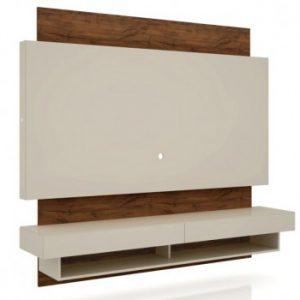 "Painel Portugal 180cm Tv 58"" Off White/Nobre"