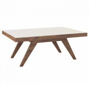 Mesa de Centro Adie 90x60cm Nobre/Off White