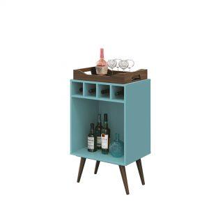 Bar Adega c/ Bandeja Bart 45x32cm Azul Acqua