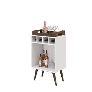 Bar Adega c/ Bandeja Bart 45x32cm Branco
