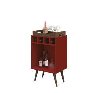 Bar Adega c/ Bandeja Bart 45x32cm Vermelho