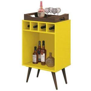Bar Adega c/ Bandeja Bart 45x32cm Amarelo