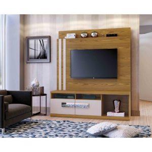 Home Colônia  - 150cm - Tv 65''/ Carvalho Ouro com Off White