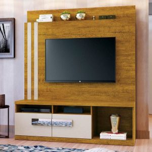 Home Colônia  - 150cm - Tv 65''/ Cor Mel com Off White